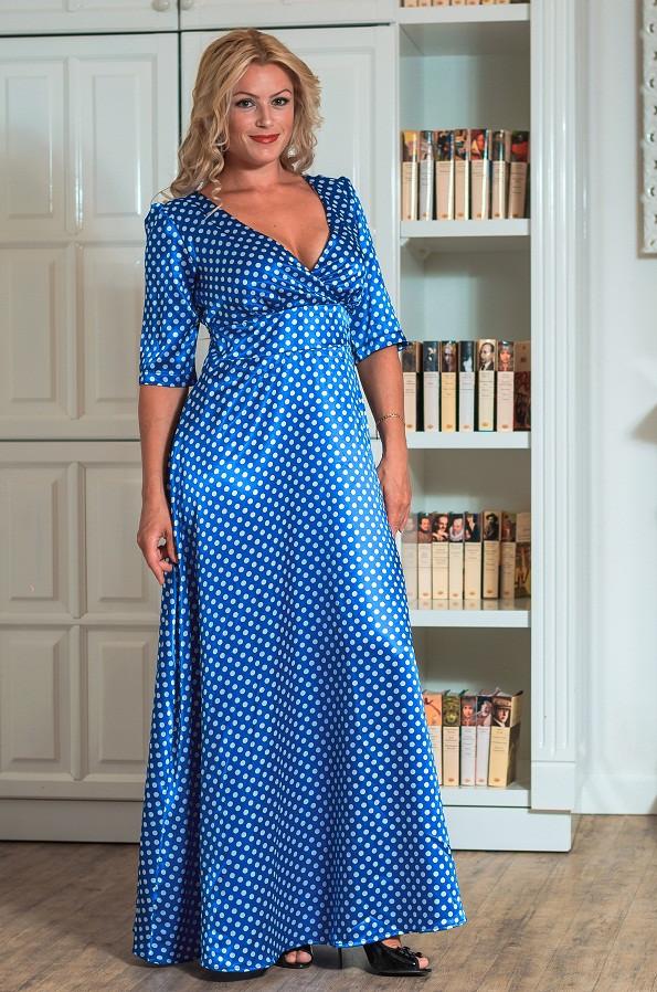 Женское вечернее платье в пол (50-60) 8044.1
