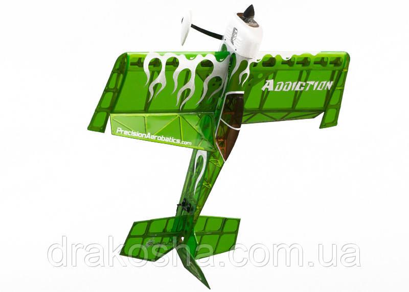 Самолёт р/у Precision Aerobatics Addiction 1000мм KIT (зеленый)