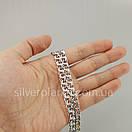 Срібна ланцюжок Бісмарк (плоский / ширина 7,5 мм), фото 5
