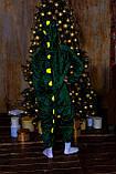 Тепла піжама Кигуруми Дракоша Для дорослих і дітей Зеленого кольору, фото 2