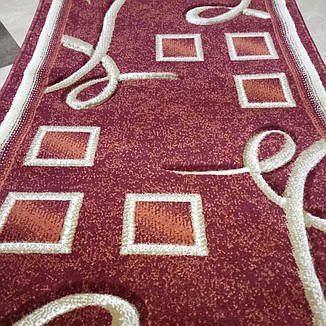 Дорожка ковровая Excellent D0193A Burgundy / 0.7 м, фото 2
