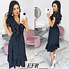 Модное платье женское на пуговицах (3 цвета) ЕФ/-542 - Черный