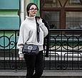 Удобная сумочка на плечо Vera Pelle (601) кожаная черная, фото 2