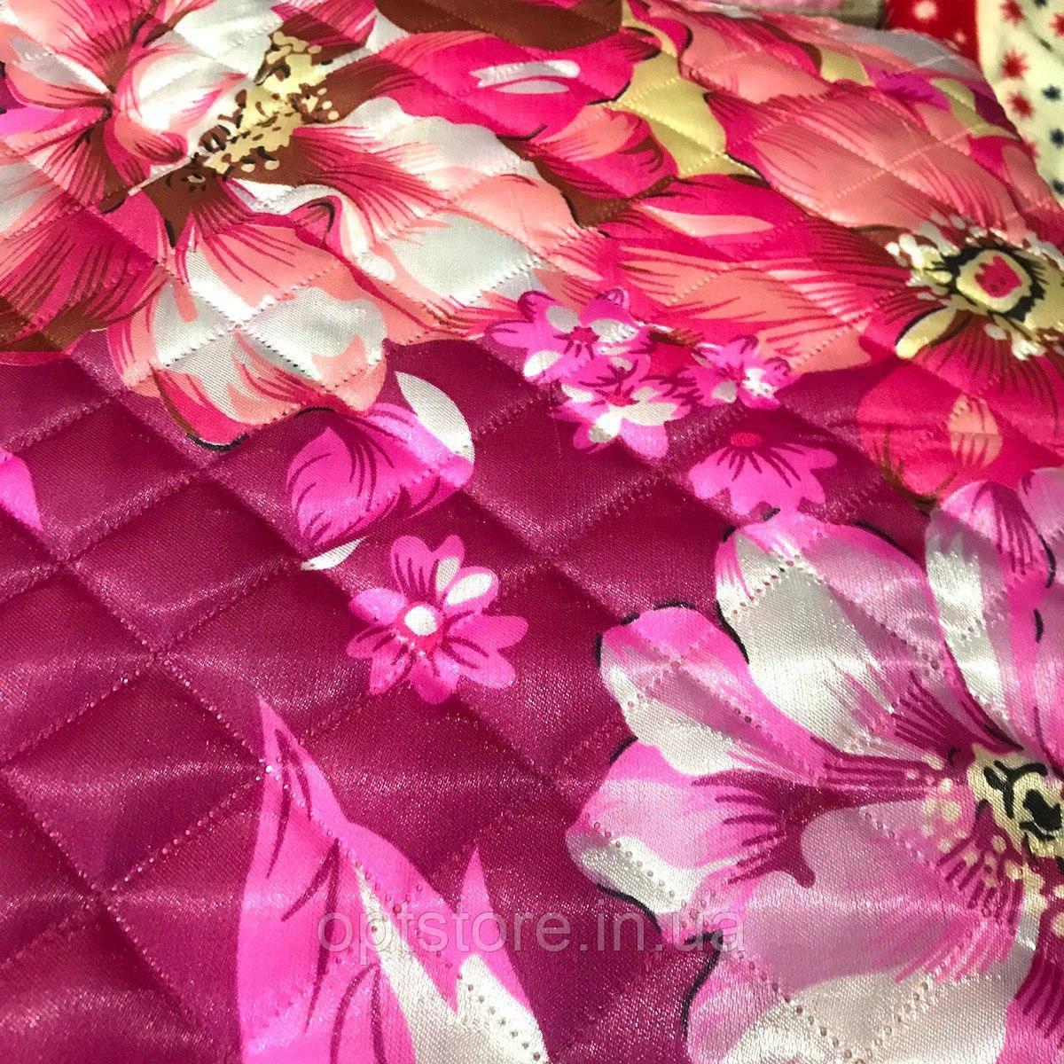 Атласное летнее одеяло-покрывало полуторный размер 145/205 см