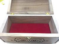 Шкатулка сувенірна дерев'яна ручної роботи 25*12*12.5 см, фото 1