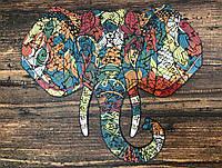 Фигурные пазлы из дерева Goldy Elephant