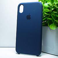 """Чехол силиконовый для айфон XR / Iphone XR синий """"Original Silicone case"""""""