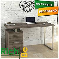 Стол офисный для руководителя L-27 MAX Loft design Дуб Палена