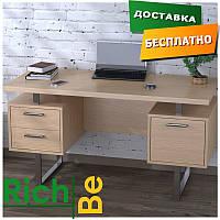 Стол офисный для руководителя L-81 Дуб Борас