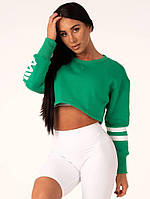 Спортивная Кофта Resort Cropped Sweater — Green