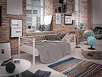 Металлический диван - кровать СамшитТМ Тенеро