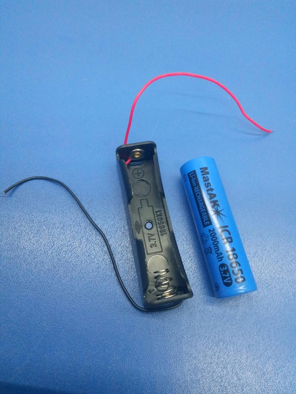 Тримач для акумулятора 18650 на 1эл