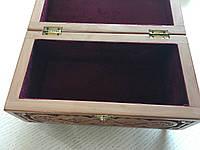 Шкатулка сувенірна дерев'яна ручної роботи 21*11*10,5 см, фото 1