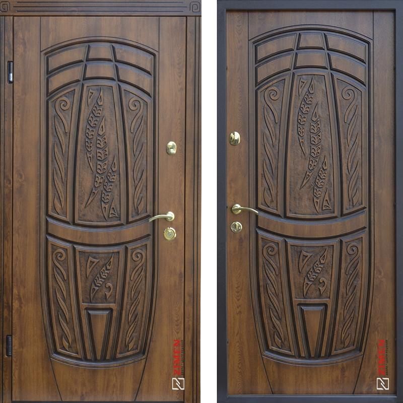 Дверь входная металлическая ABWEHR, 209 Massandra, Vinorit, Classic, Дуб золотой Патина, 850x2050, правая