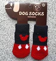 Носочки Микки черно-красные