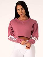 Спортивная Кофта Resort Cropped Sweater — Pink