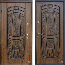 Дверь входная металлическая ABWEHR, 209 Massandra, Vinorit, Classic, SAP, Дуб золотой Патина, 950x2050, правая