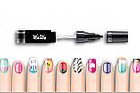 Детский лак-карандаш для ногтей Malinos Creative Nails на водной основе (2 цвета Черный + Малиновый), фото 2