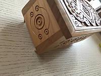 Шкатулка суха різьба дерев'яна ручної роботи 16*8*8 см, фото 1