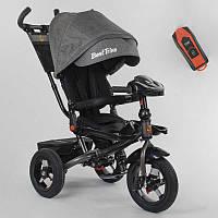 Трехколесный велосипед для детей с родительской ручкой 6088 F - 05-359 Best Trike, Надувные колеса