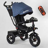Трехколесный велосипед для детей с родительской ручкой 6088 F - 09-504 Best Trike, Надувные колеса