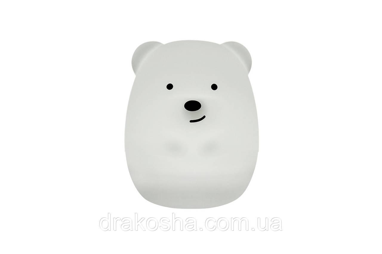 """Детский ночник-игрушка Click """"Hічні звірятка"""" Медведь 8 см"""
