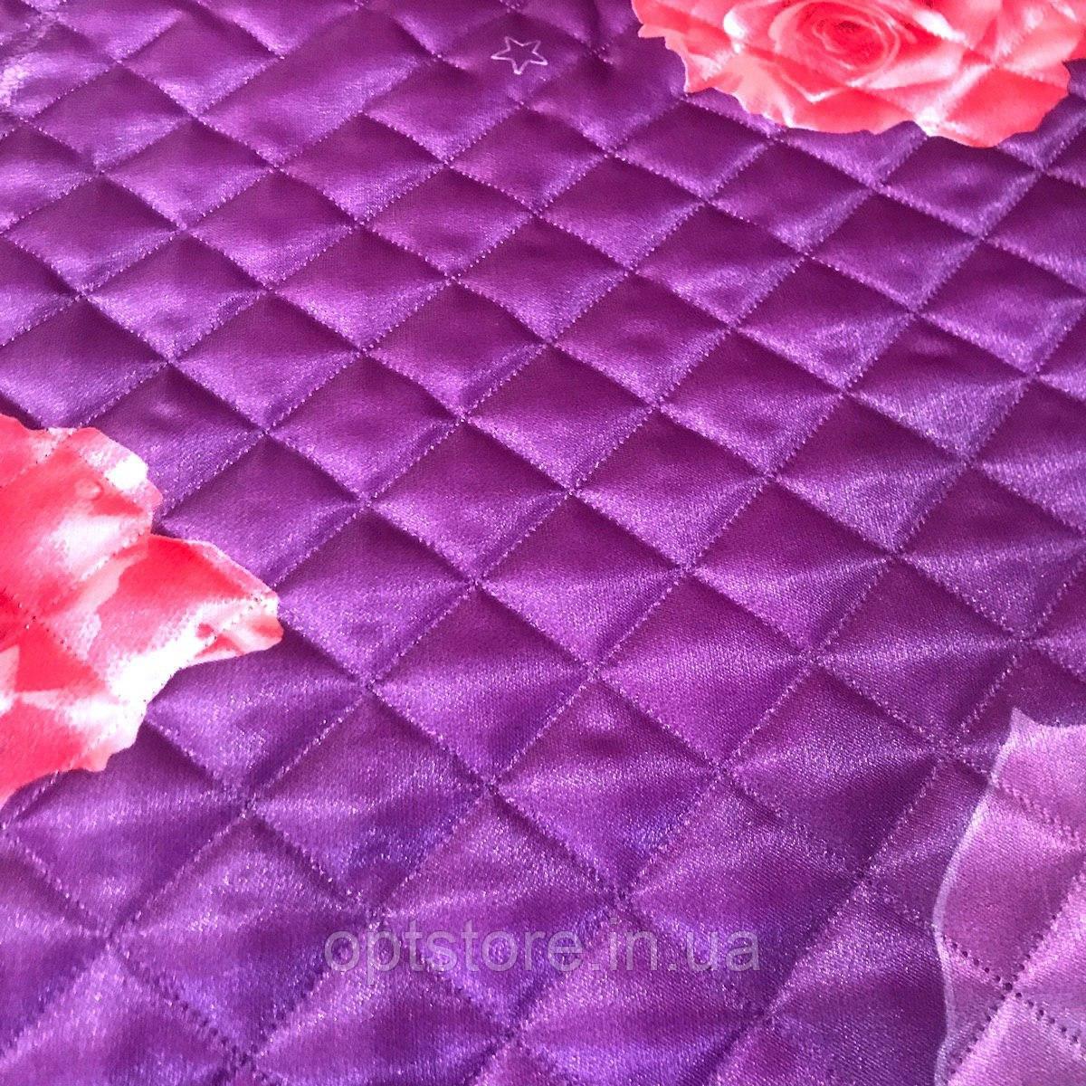 Атласное летнее одеяло-покрывало евро размер 195/205 см