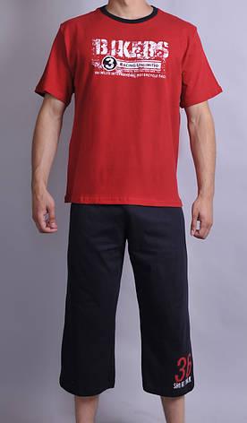 Чоловіча піжама Natural Club 1002 XL Червоний, фото 2