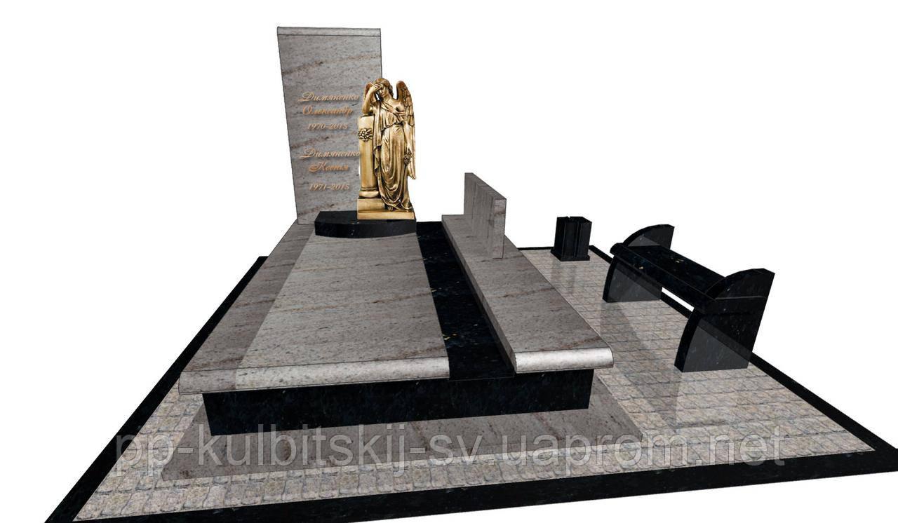 Пам'ятник надгробний гранітний на двох Елітний F6603/ф