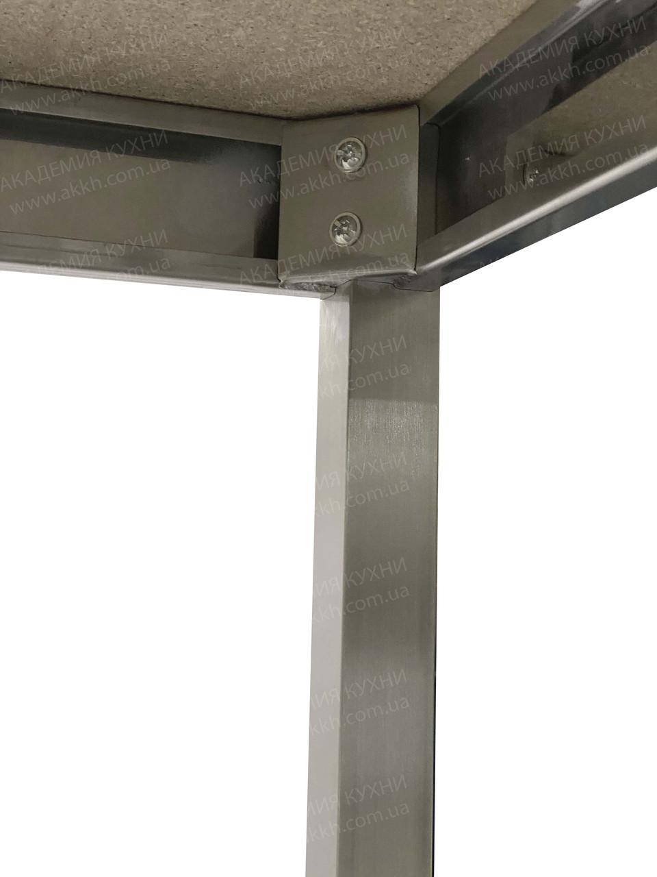 Стол разбор с нерж столеш AISI430 и полкой - фото 5