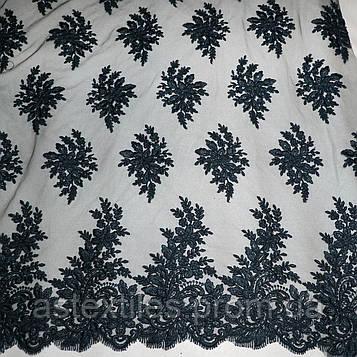 Ажурний гіпюр з кордом (чорний)