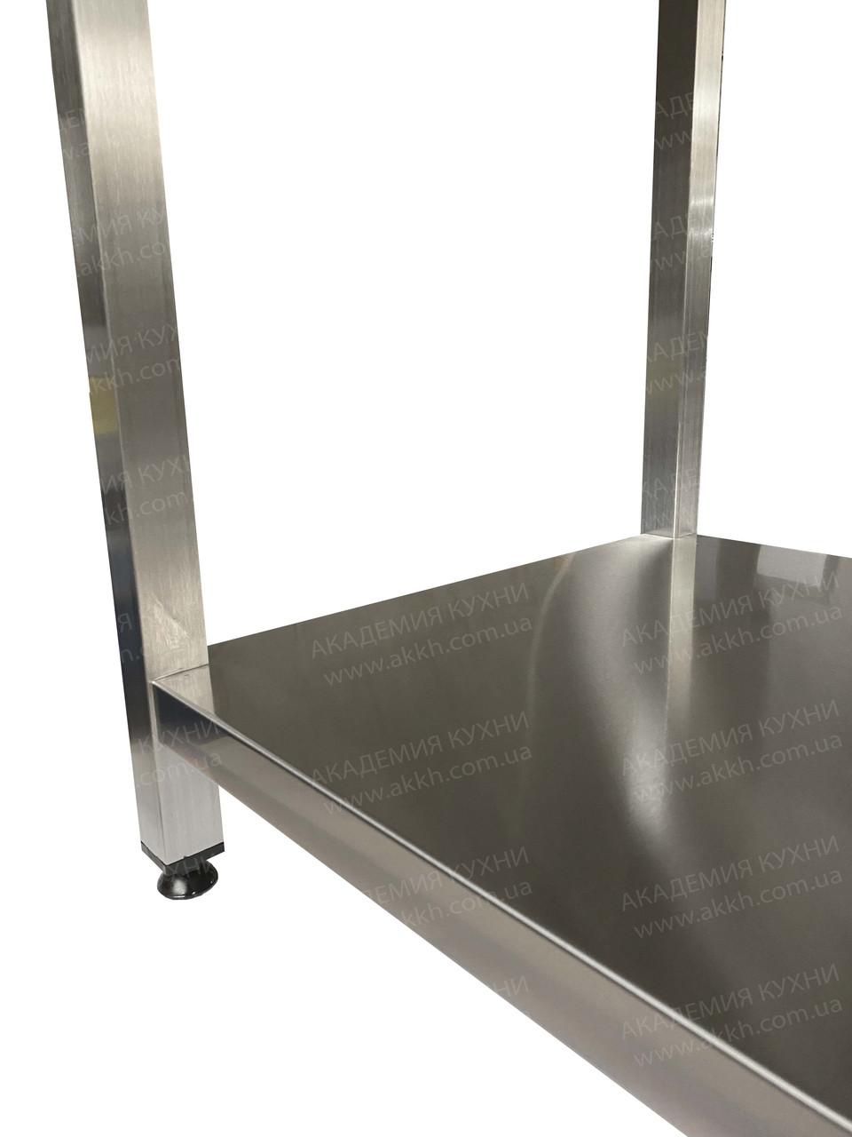 Стол разбор с нерж столеш AISI430 и полкой - фото 8