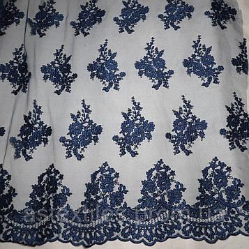 Ажурний гіпюр з кордом (темно-синій)