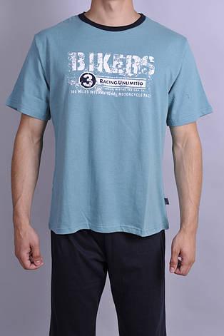Чоловіча піжама Natural Club 1002 XXL Бірюзовий, фото 2