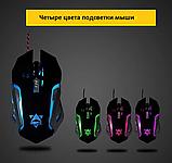 Комплект клавиатура и мышь игровая проводная клавиатура с мышкой и LED подсветкой K33, фото 6
