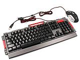 Комплект клавиатура и мышь игровая проводная клавиатура с мышкой и LED подсветкой K33, фото 8