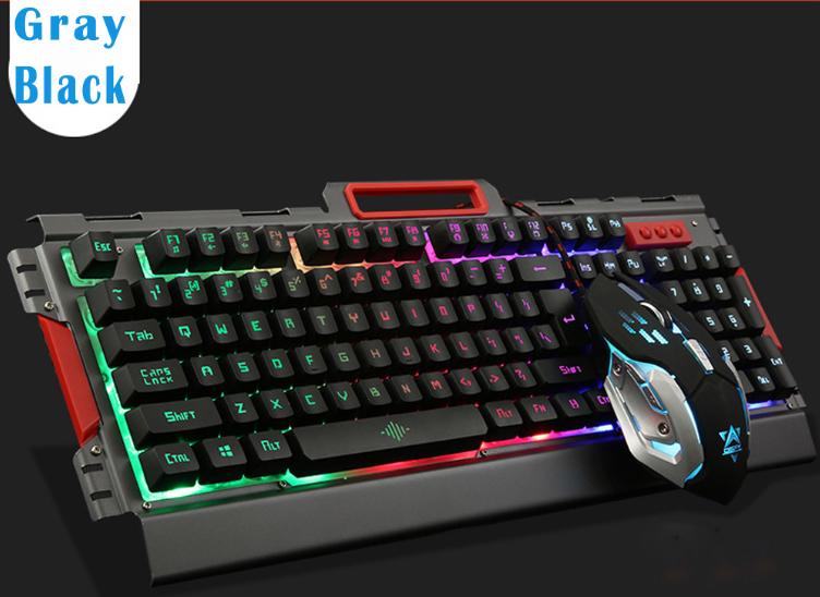 Комплект клавиатура и мышь игровая проводная клавиатура с мышкой и LED подсветкой K33