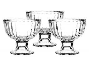 Набор широких стеклянных креманок-мороженниц Pasabahce Айсвиль 3 шт (51018)
