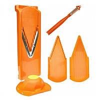 """Бернер (Borner) Оранжевая немецкая овощерезка-терка комплект + Нож-овощечистка """"Экономка"""" Börner"""
