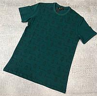 Мужская футболка Billionaire D9629 зеленая