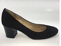 Замшевые туфли на устойчивом каблуке тм. Камея, фото 1