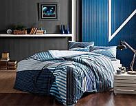 Двуспальное евро постельное белье TAC Atlantis Ранфорс / простынь на резинке