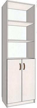 Офисный стеллаж 200*60*35 см Данко, книжный шкаф, ДСП дуб сонома