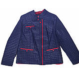 Женская демисезонная куртка больших размеров, синяя, размеры 50-60, фото 2