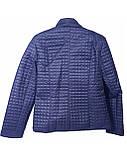 Женская демисезонная куртка больших размеров, синяя, размеры 50-60, фото 4
