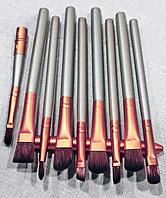 Набор кистей naked 3 12 штук gold (в металлическом футляре), фото 1