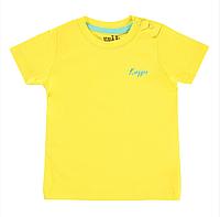 Футболка для мальчика однотонная желтая 68, 74, 80, 86