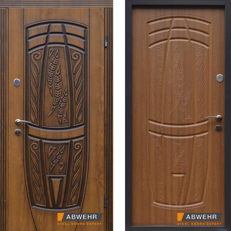 Дверь входная металлическая ABWEHR, 209 Massandra, Vinorit, Nova, Avers, Дуб золотой Патина, 850x2050, левая