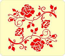 Трафарет для пряников Цветочный №3