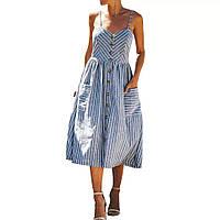 Женский сарафан в полоскуна пуговицах с карманами размер норма 42-44,цвет уточняйте при заказе